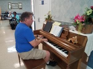 Don at the piano